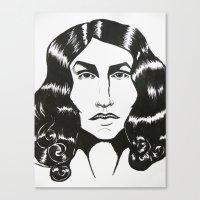 ezra koenig Canvas Prints featuring Ezra Miller by ChristinneC