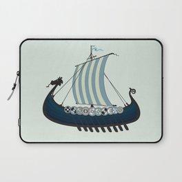 Blue viking ship Laptop Sleeve