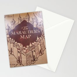 The Marauders Map Stationery Cards