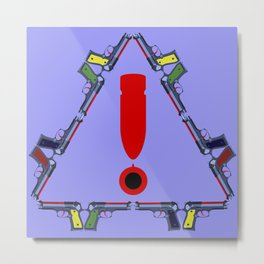 Guns - A Warning Sign Metal Print