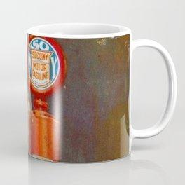 Vintage 1926 Gas Pump Socony Oil, Gasoline Standard Oil Advertising Poster Coffee Mug