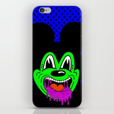 MOUSE SICK.  (On Blue). iPhone & iPod Skin
