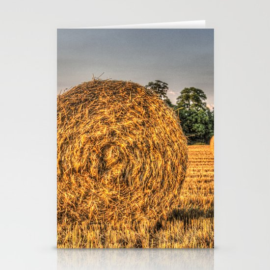 Bales of straw Stationery Cards