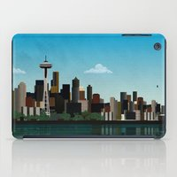 seattle iPad Cases featuring Seattle by WyattDesign