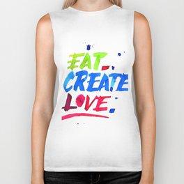 Eat, Create, Love. Biker Tank