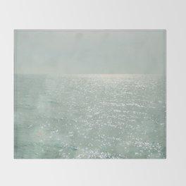 The Silver Sea Throw Blanket