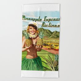 Pineapple Express Airlines Beach Towel