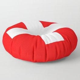 Swiss Flag of Switzerland Floor Pillow