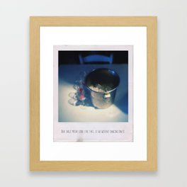 Our table might look like this, if we weren't dancing on it Framed Art Print