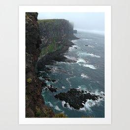 LatraBjarg cliff Art Print