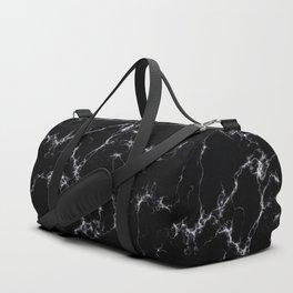 Elegant Marble style4 - Black and White Duffle Bag