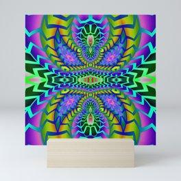 Tribal Rainbow Lotus Mini Art Print