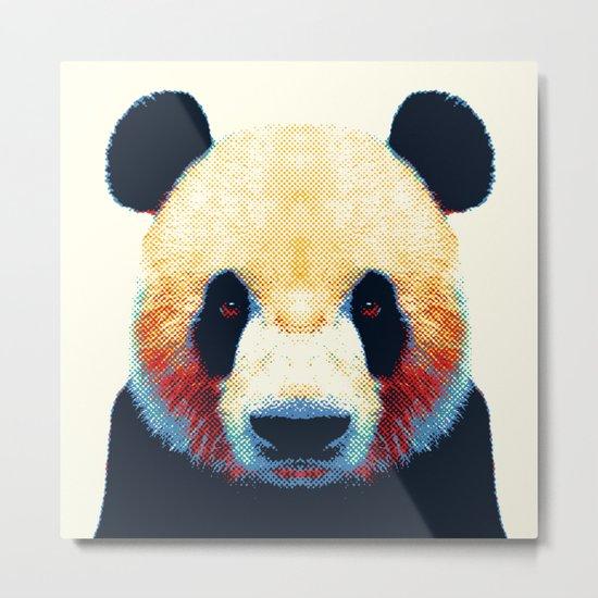 Panda - Colorful Animals Metal Print
