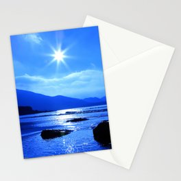 Beach In Blue Stationery Cards