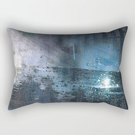 Taking the Evening Train Through Winter Words Rectangular Pillow
