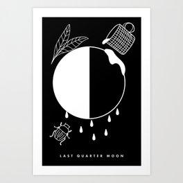 Last Quarter Moon Art Print