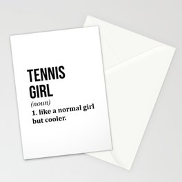 Tennis Girl Funny Quote Stationery Cards