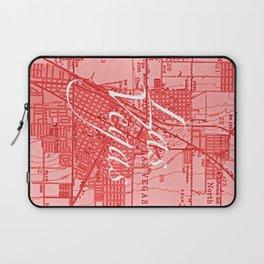 Vintage Las Vegas Red Laptop Sleeve