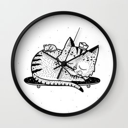 Scat or Die Wall Clock