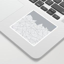 Abstract Mountain Grey Sticker