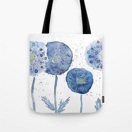 4 indigo abstract dandelion 2 Tote Bag