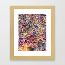 Berlin Germany City Map Framed Art Print