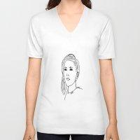ellie goulding V-neck T-shirts featuring Ellie  by Rosalia Mendoza