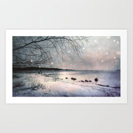 Winter's day Art Print