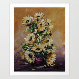 SUNFLOWERS FOR YOU Art Print