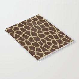 primitive safari animal brown and tan giraffe spots Notebook