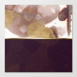 Half And Half Rose Gold 01 Canvas Print