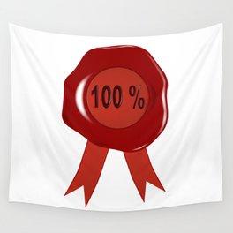 Wax Stamp 100 Percent Wall Tapestry