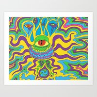 trippy Art Prints featuring trippy by Mik3c0utur3