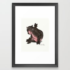 HippoCat Framed Art Print