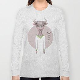 taurus astro portrait Long Sleeve T-shirt