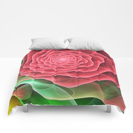 Swirling into a Rose Comforters