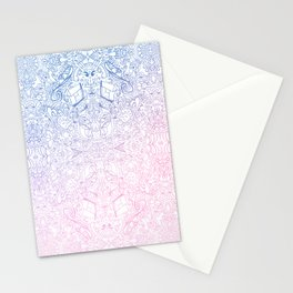 phat leaf pattern pastel gradient Stationery Cards