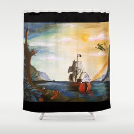 Neverland Shower Curtain