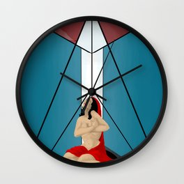 women in red Wall Clock