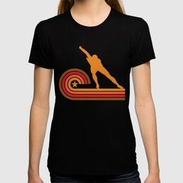 Retro Style Speed Skater Vintage Speed Skating T-shirt