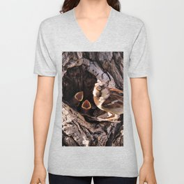 House Sparrow Keeping House Unisex V-Neck