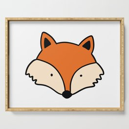 Simple red fox Serving Tray