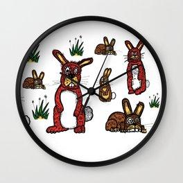 Stressed Rabbits on Acid Wall Clock