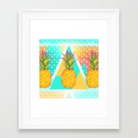 pineapples Framed Art Prints featuring Pineapples by Ornaart