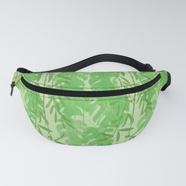 Leaves Pattern QQ Fanny Pack