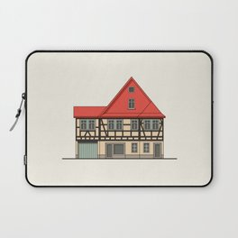 Half-timbered house with red roof Laptop Sleeve