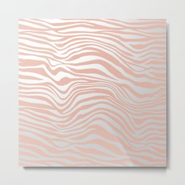 Rose Gold Tiger Stripes Metal Print