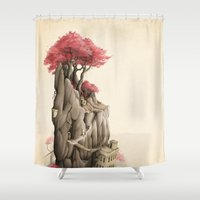 arnold Shower Curtains featuring Revenge of the Nature VI: Sanctuary by Rafapasta