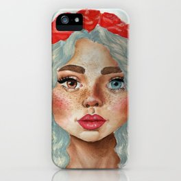 'Girl With Flower Crown' iPhone Case