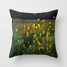 Along the Fence Row Throw Pillow
